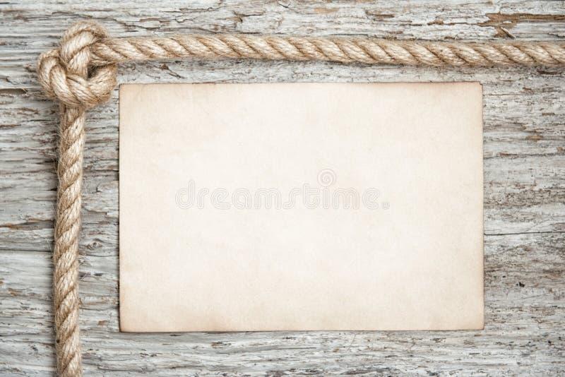Arkana, prześcieradło papier i drewna tło, obraz stock