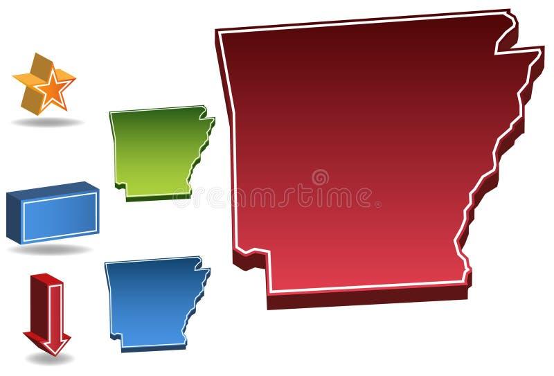 Arkansas 3D royalty free illustration