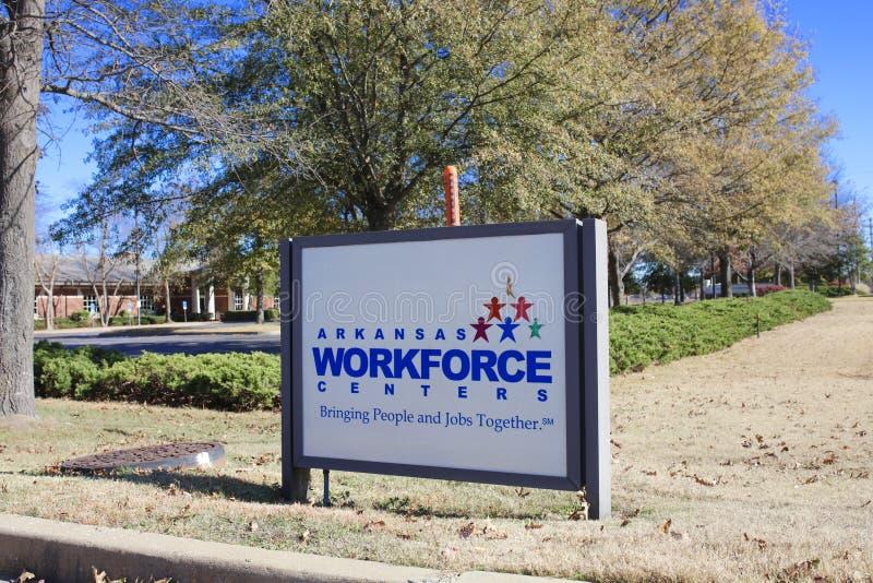 Arkansas arbetskraftmitt, västra Memphis, Arkansas fotografering för bildbyråer
