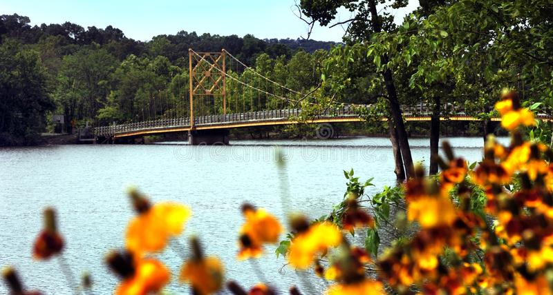 Arkansas-` Biber-Brücke lizenzfreies stockbild