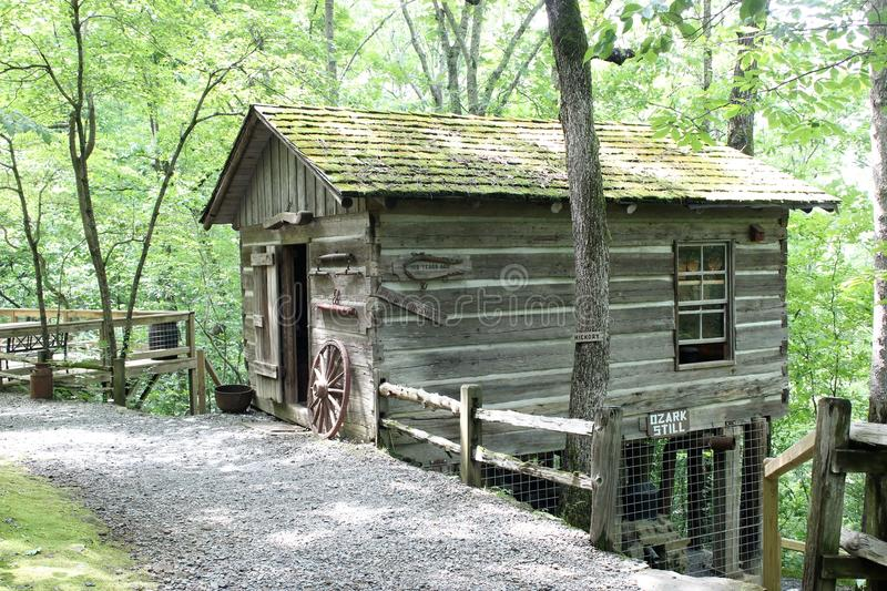 Download Arkansas Natural Bridge   Old Homestead Cabin   2 Stock Image    Image Of Bridge