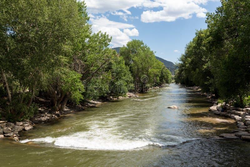 Arkansas River em Colorado foto de stock