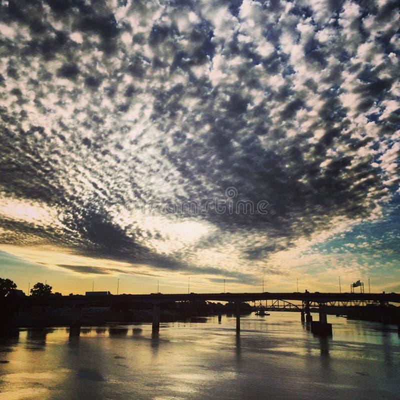 Arkansas-Sonnenaufgang lizenzfreie stockbilder