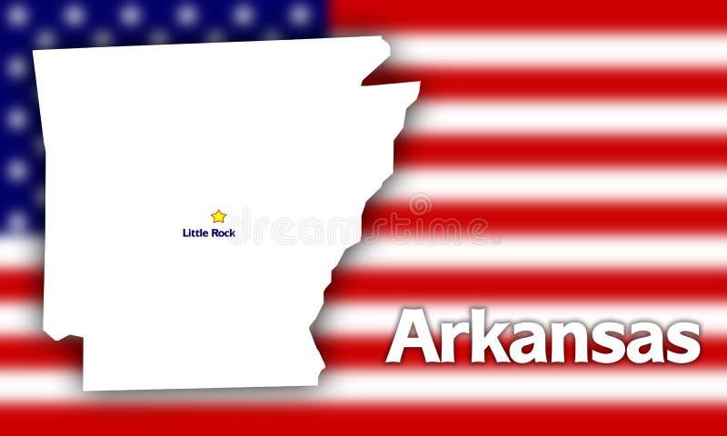 Arkansas state contour royalty free illustration