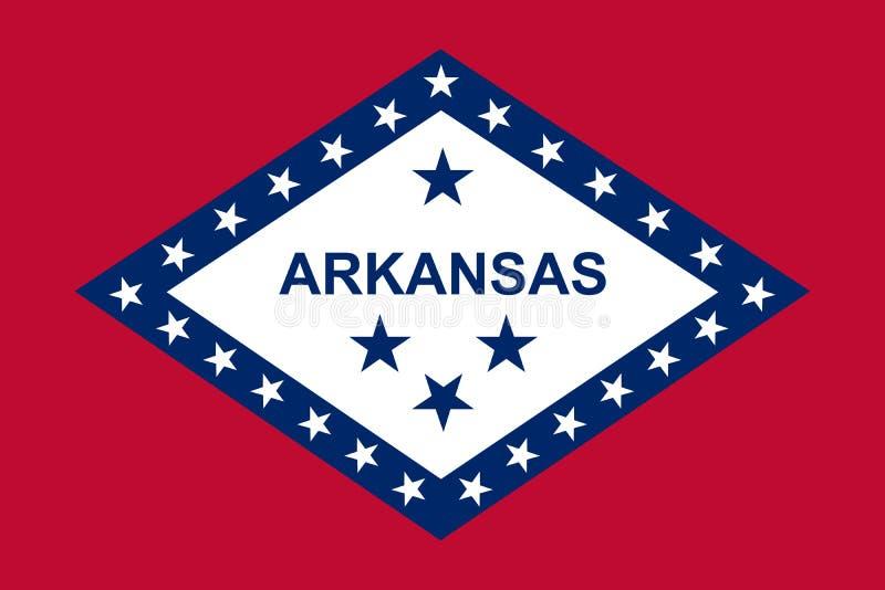 Arkansas state flag. Vector illustration. Vector flag of Arkansas state, United States of America royalty free illustration