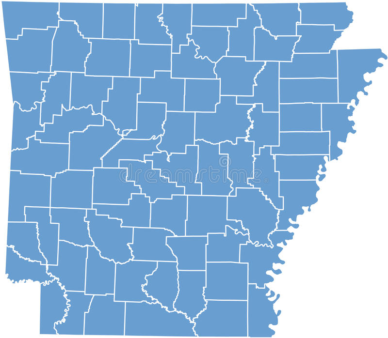 Download Arkansas State Map  By Counties Royalty Free Stock Images - Image: 11001629