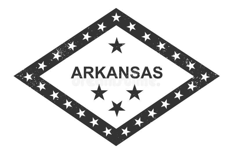 Arkansas state symbolic flag. Momochrome vector illustration. Arkansas state symbolic flag. Vector illustration. Monochrome royalty free illustration