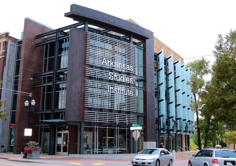Arkansas studier institut och ASI Research Portal royaltyfria bilder