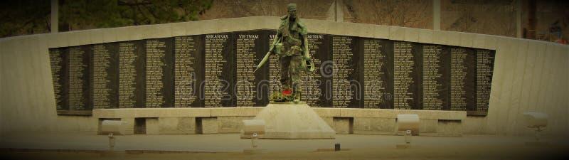 Arkansas Vietnam veteranminnesmärke fotografering för bildbyråer