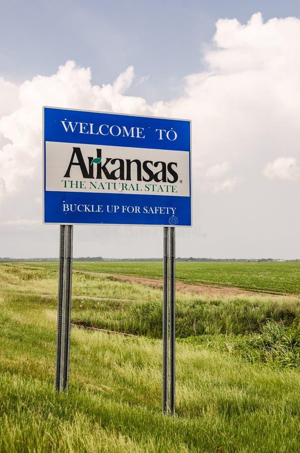 Arkansas-Willkommensschild lizenzfreie stockfotografie