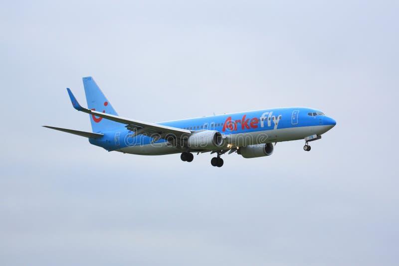 Arkefly Boeing 737 imagenes de archivo