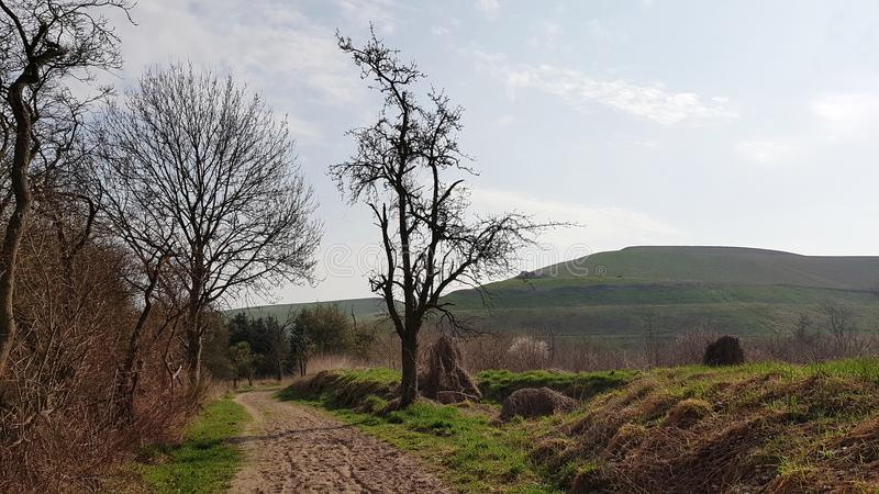 The Arkenberge hills in North of Berlin, the German capital, in. The Arkenberge in Blankenfelde in the north of Berlin was originally a natural range of hills stock photography