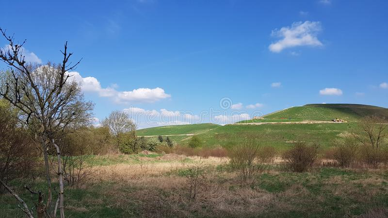 The Arkenberge in North of Berlin, the German capital. The Arkenberge in Blankenfelde in the north of Berlin was originally a natural range of hills. By raise of stock photography