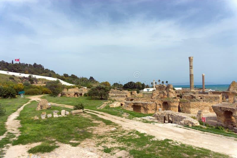 Arkeologisk plats av Carthage i Tunisien arkivbild