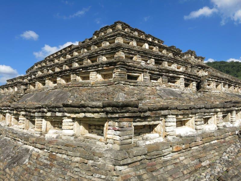 Arkeologisk plats av El Tajin, Veracruz, Mexico fotografering för bildbyråer