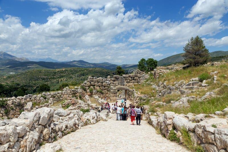 Arkeologisk plats av Mycenae, Grekland royaltyfri fotografi