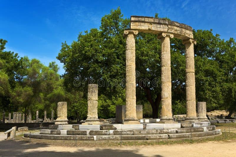 Arkeologisk plats av Olympia arkivfoton