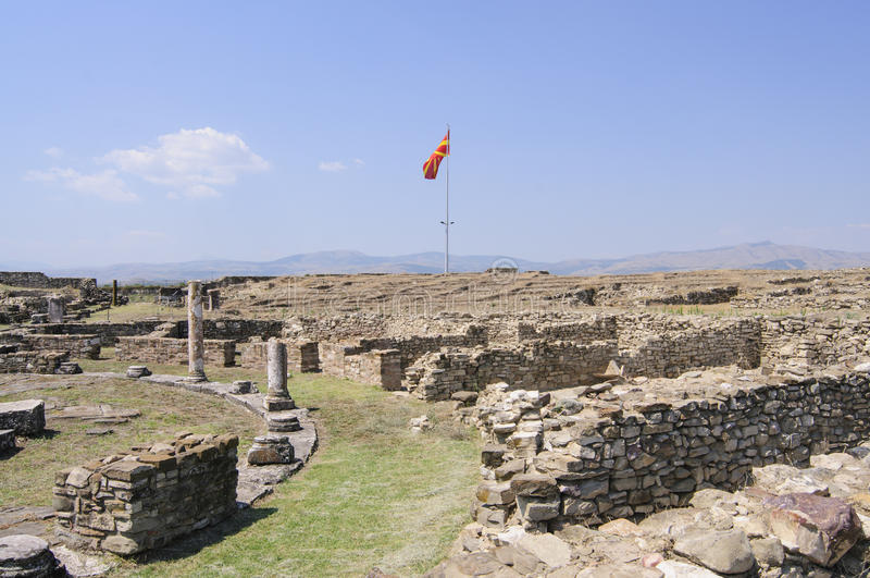 Arkeologisk plats av stobien Republiken Makedonien Europa royaltyfri bild