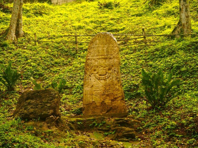 Arkeologisk plats Yaxha royaltyfria foton
