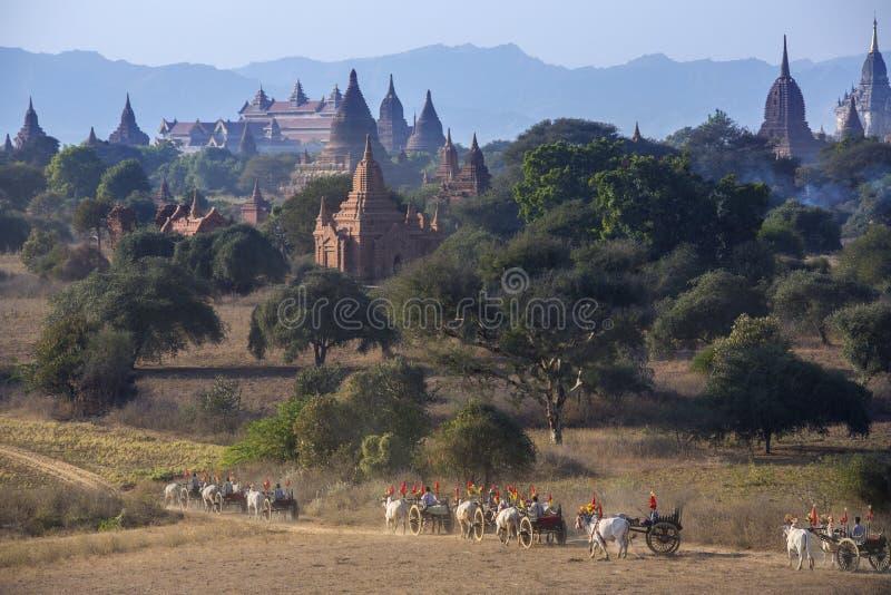 Arkeologisk zon - Bagan - Myanmar (Burman) royaltyfri fotografi