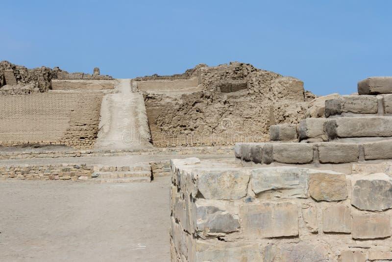 Arkeologiskt komplex av Pachacamac i Lima fotografering för bildbyråer