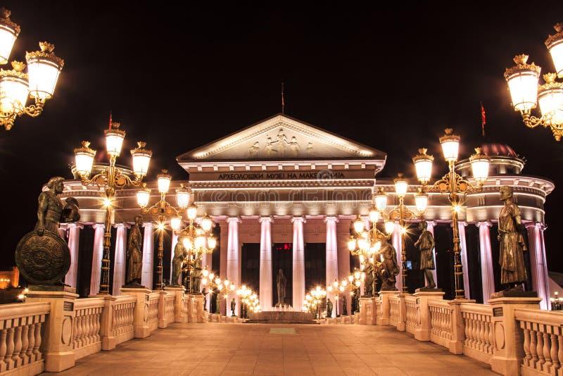 Arkeologiskt museum i Skopje, Makedonien royaltyfri fotografi