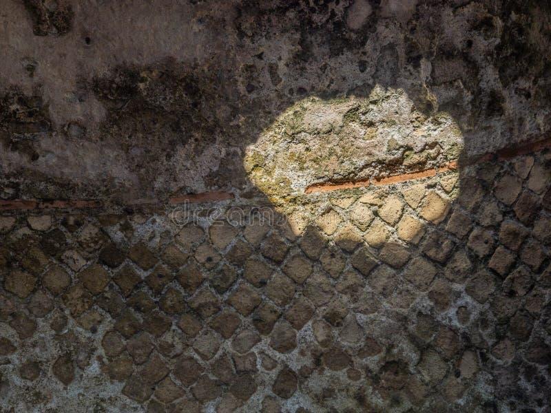 Arkeologiskt parkera av Baia, arkitektoniska detaljer royaltyfri fotografi