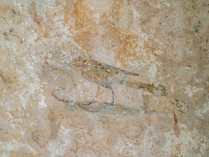 Arkeologiskt parkera av Baia, romerska freskomålningar royaltyfri foto