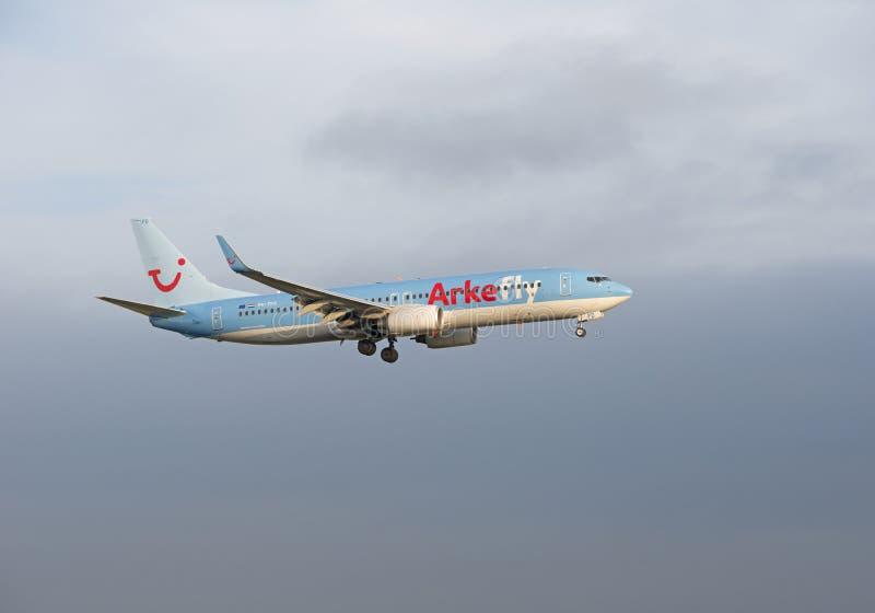 Arkevlieg Boeing 737 ph-TFD royalty-vrije stock foto