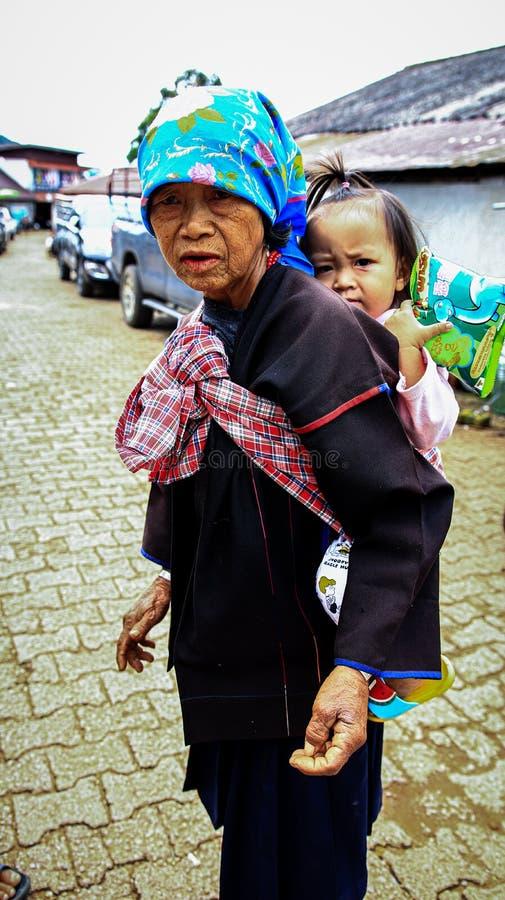 Thai mountain people. Thai mountain. thailand. people, mountain, children royalty free stock photos
