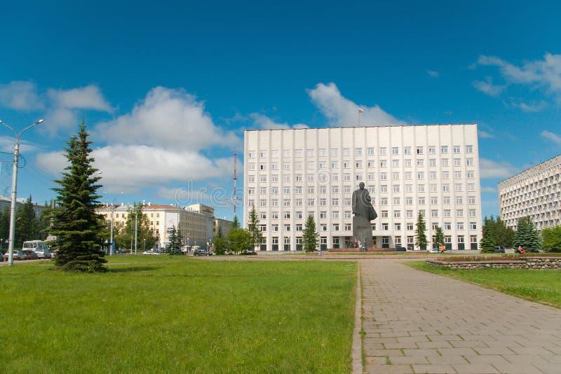 Arkhangelsk cyti, Stadtmitte stockbild