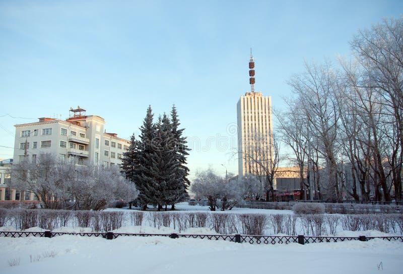 Arkhangelsk Stadtmitte lizenzfreie stockfotos