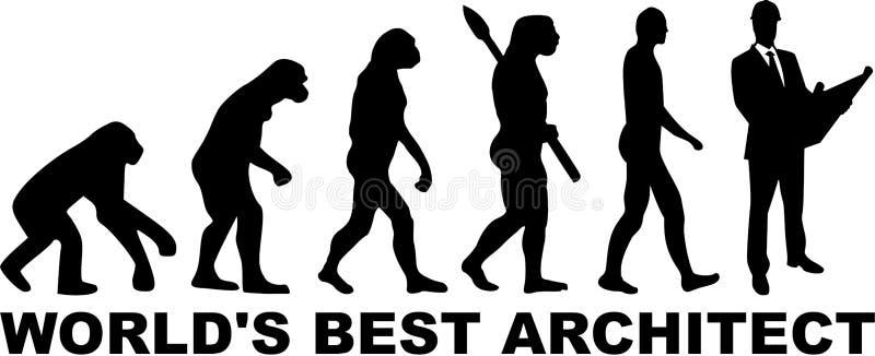 Arkitekt Architecture Evolution royaltyfri illustrationer