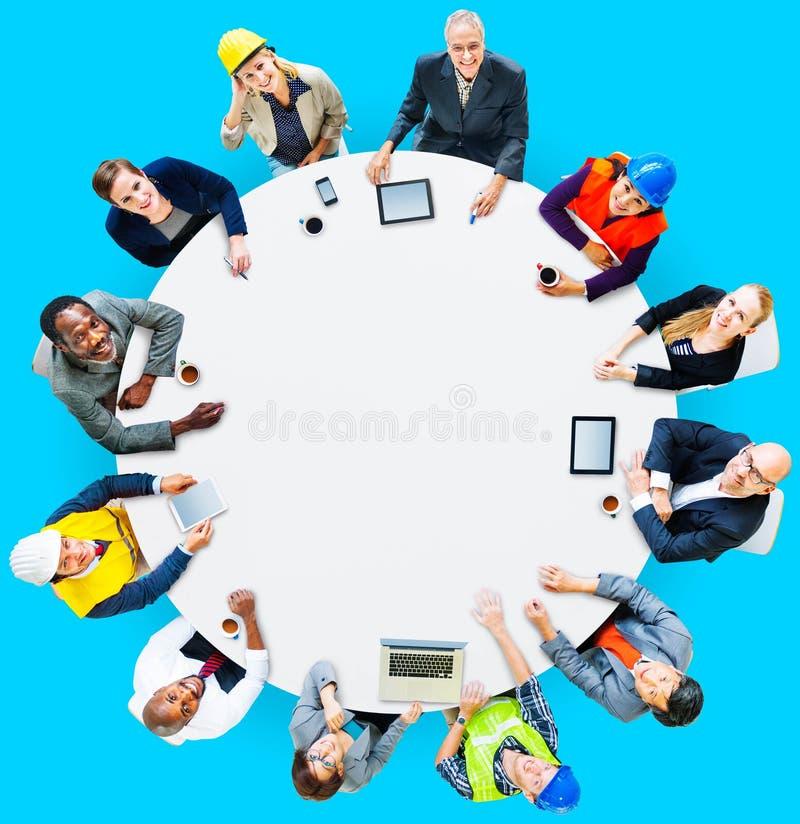 Arkitekt Business Engineering Corporate Team Concept arkivbild