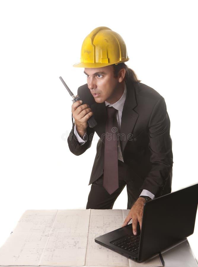 Arkitekt i hans kontor arkivbild