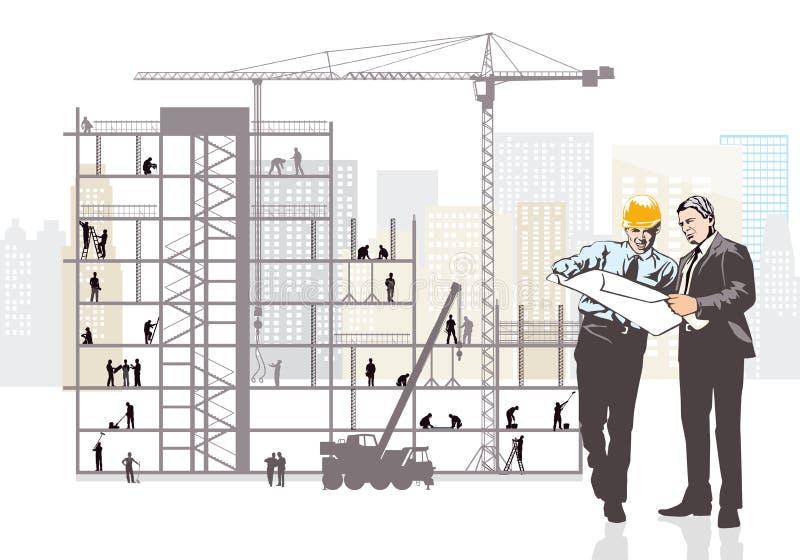 Arkitekt- och klientövervakningkonstruktion royaltyfri illustrationer
