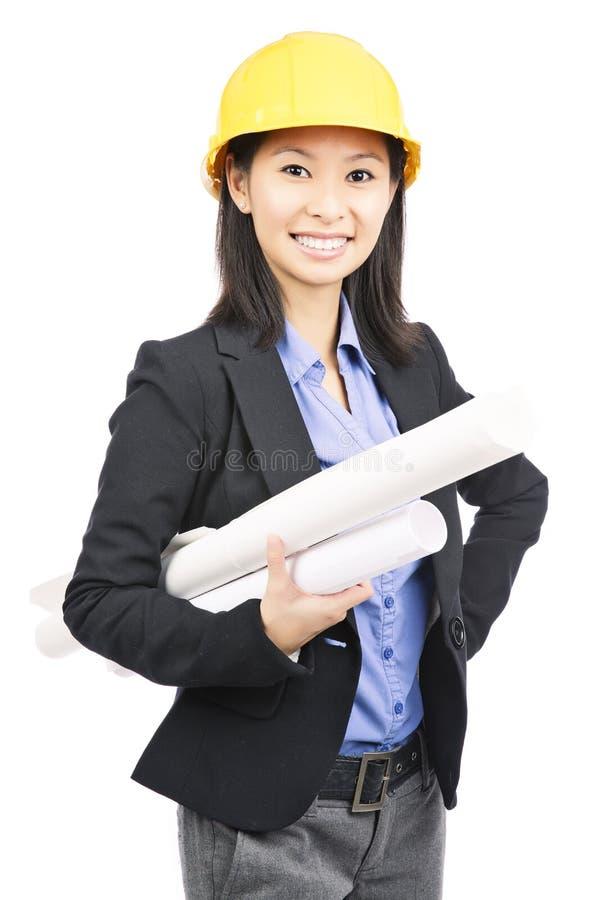Arkitektkvinna arkivfoton