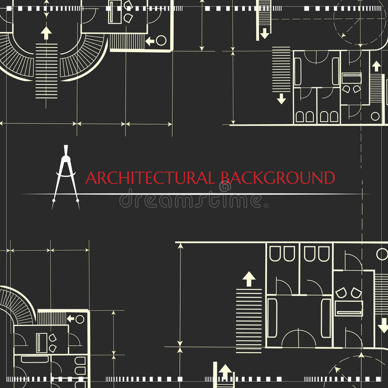 arkitektonisk bakgrund inneslutade den scalable vektorn för eps-formatdiagram stock illustrationer
