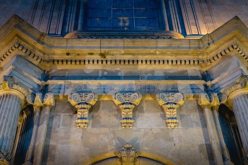Arkitektonisk detalj av basilikan av vår dam av Sameiro nära Braga arkivfoto