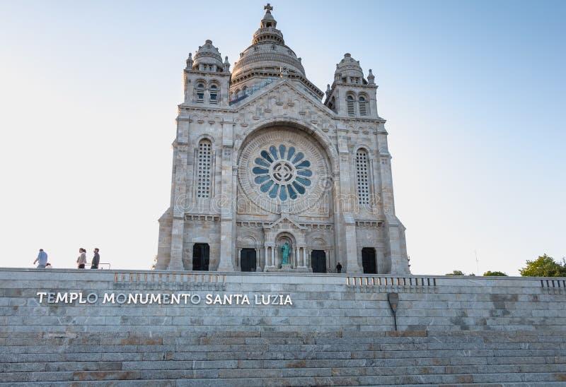 Arkitektonisk detalj av den Santa Luzia basilikan i Viana do Castelo royaltyfria foton