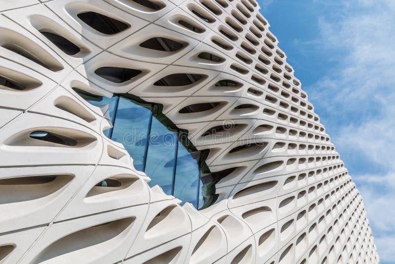 Arkitektonisk detalj av det breda museet i Los Angeles, Kalifornien royaltyfri foto