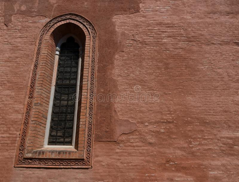 Arkitektonisk detalj av det traditionella huset i Venedig, Italien arkivfoto
