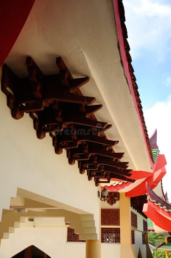 Arkitektonisk detalj av Masjid Jubli Perak Sultan Ismail Petra a K A Masjid Peking fotografering för bildbyråer