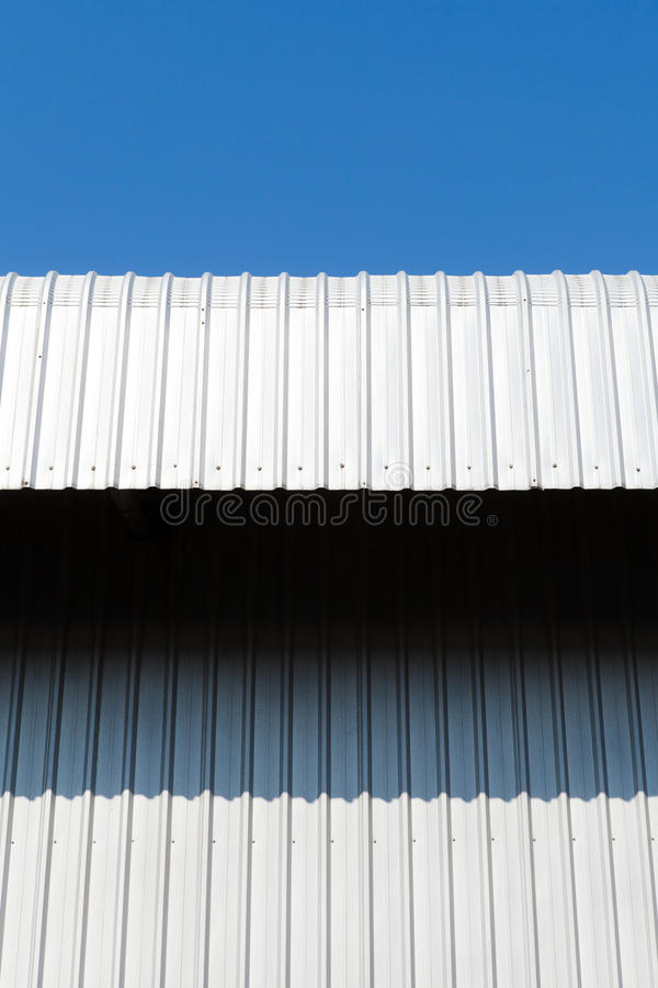 Arkitektonisk detalj av metallarket arkivfoton