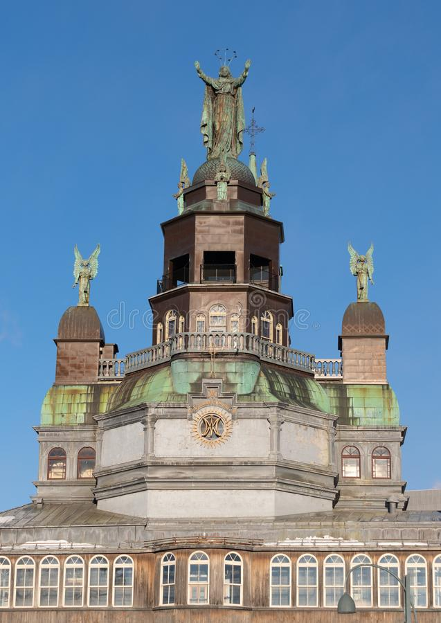 Arkitektonisk detalj av prästkrage-Bourgeoysmuseet i Montr arkivbild