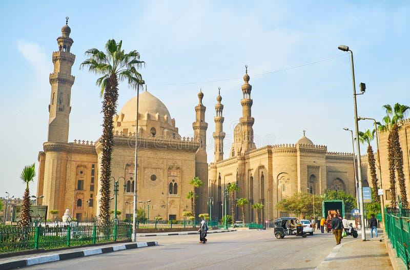 Arkitektonisk helhet av Salah El-Deen Square, Kairo, Egypten royaltyfria bilder