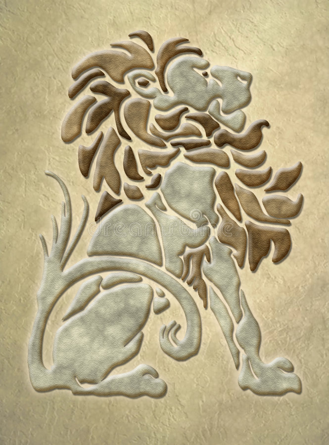 arkitektonisk lionmotivsten arkivbilder
