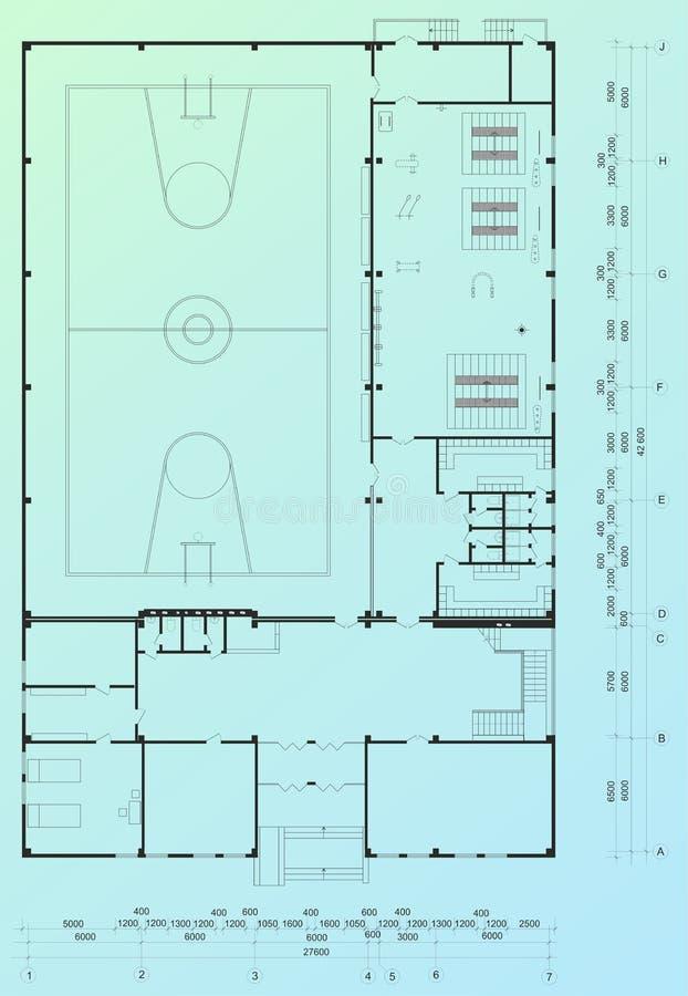 arkitektonisk ritning royaltyfri illustrationer