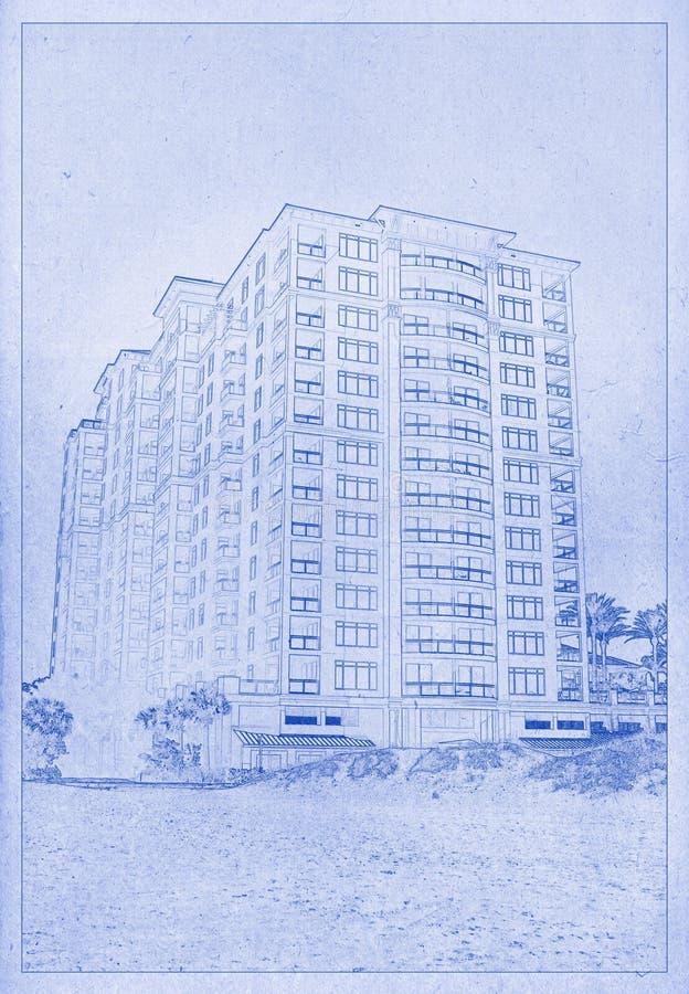 Arkitektonisk teckning fotografering för bildbyråer