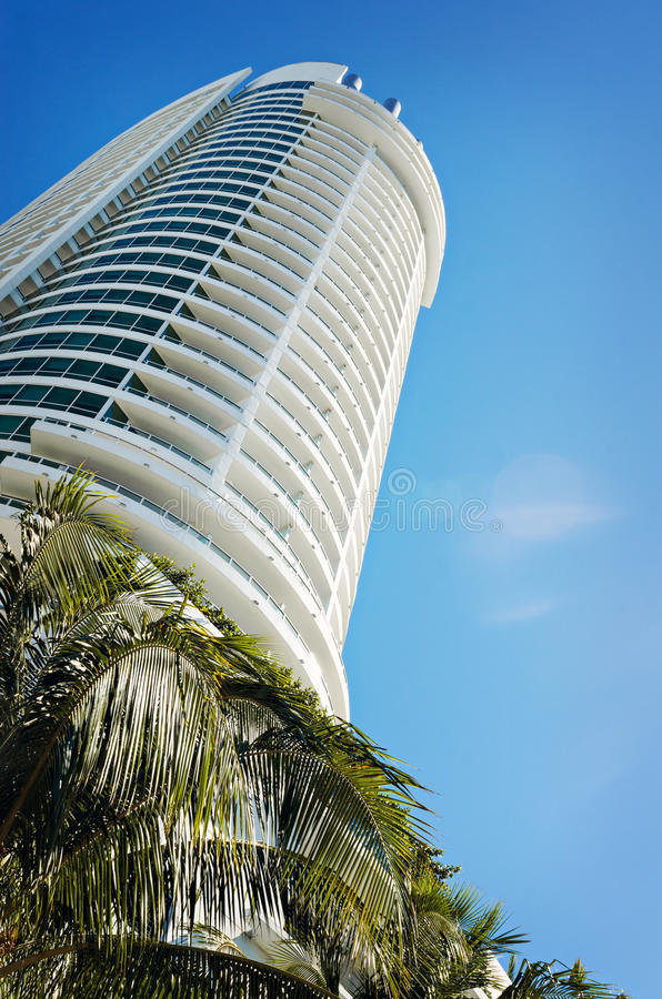 Arkitektoniska byggande Miami arkivbild